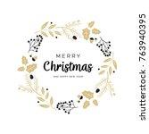 Christmas Wreath With Black An...