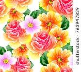 abstract elegance seamless... | Shutterstock . vector #763947829