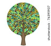 tree of sociology   people icon | Shutterstock .eps vector #76395937