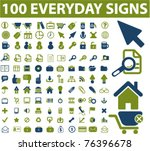 100 everyday business  website  ... | Shutterstock .eps vector #76396678