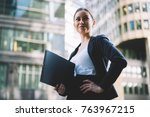 attractive successful...   Shutterstock . vector #763967215
