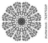 vector circular pattern in the... | Shutterstock .eps vector #763970269