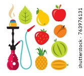 hookah and different tastes.... | Shutterstock .eps vector #763976131