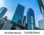 bottom view of modern... | Shutterstock . vector #763983964