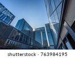 bottom view of modern... | Shutterstock . vector #763984195