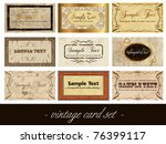 vintage card set | Shutterstock .eps vector #76399117