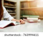 young asian student woman... | Shutterstock . vector #763994611