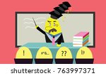 phd or doctorate teacher can...   Shutterstock .eps vector #763997371