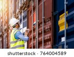 foreman control loading... | Shutterstock . vector #764004589