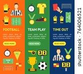cartoon soccer sport game... | Shutterstock .eps vector #764006521