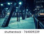 chicago city vintage river...   Shutterstock . vector #764009239