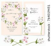 save the date card  wedding... | Shutterstock .eps vector #764019451