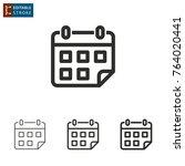 calendar   outline icon on...   Shutterstock .eps vector #764020441