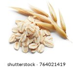 oatmeal and its crops isolated... | Shutterstock . vector #764021419