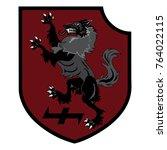 design patch. heraldic shield... | Shutterstock .eps vector #764022115