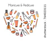 types of fashion nail shapes | Shutterstock .eps vector #764023111