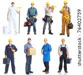 industrial contractors workers... | Shutterstock . vector #76402759