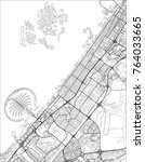 black and white vector city map ...   Shutterstock .eps vector #764033665