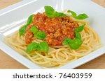 Spaghetti Bolognaise With Fres...