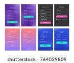 set of mobile screens. ui  ux ...