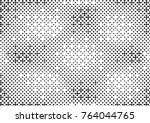 abstract halftone dotted grunge ... | Shutterstock .eps vector #764044765