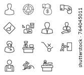 thin line icon set   man ... | Shutterstock .eps vector #764045011