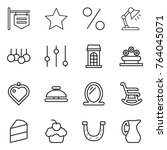 thin line icon set   shop... | Shutterstock .eps vector #764045071