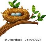 vector illustration of two eggs ... | Shutterstock .eps vector #764047324
