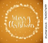 wonderful and unique festive... | Shutterstock .eps vector #764047699