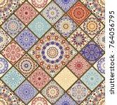 seamless ceramic tile with... | Shutterstock .eps vector #764056795