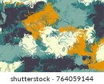 abstract art texture. colorful... | Shutterstock . vector #764059144