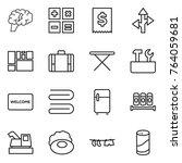 thin line icon set   brain ... | Shutterstock .eps vector #764059681