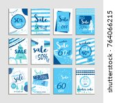 winter social media sale... | Shutterstock . vector #764066215