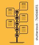 vertical timeline infographics. ... | Shutterstock .eps vector #764068051