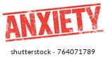 anxiety rubber stamp   Shutterstock .eps vector #764071789