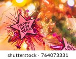 happy new year and christmas... | Shutterstock . vector #764073331