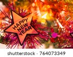 happy new year and christmas... | Shutterstock . vector #764073349