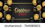 christmas sale banner template... | Shutterstock .eps vector #764080831