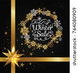 winter sale poster in... | Shutterstock .eps vector #764080909
