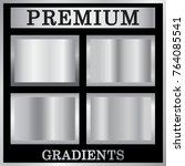silver gradient backgrounds set.... | Shutterstock .eps vector #764085541