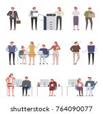 office colleagues co worker... | Shutterstock .eps vector #764090077