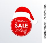 christmas sale icon. 20  price... | Shutterstock .eps vector #764098705