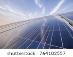 solar photovoltaic power... | Shutterstock . vector #764102557