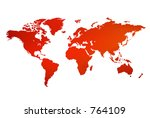 an unfolded map of the world | Shutterstock . vector #764109