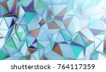 polygonal coloful surface... | Shutterstock . vector #764117359