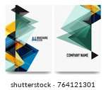 business brochure cover layout  ... | Shutterstock .eps vector #764121301