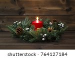 first advent   decorated advent ...   Shutterstock . vector #764127184