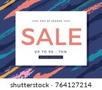 sale ads for poster banner... | Shutterstock .eps vector #764127214