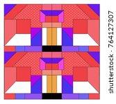 trendy geometric elements... | Shutterstock .eps vector #764127307