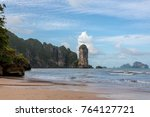 ao nang beach and coastline ... | Shutterstock . vector #764127721